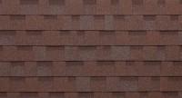 Brun et rouge - toiture bardeau